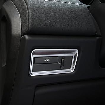 Accesorios de interior cromados de ABS de carbono para decoración de botones de Taildoor, pegatinas para Evoque Vogue Sport 2012 - 2017: Amazon.es: Coche y ...