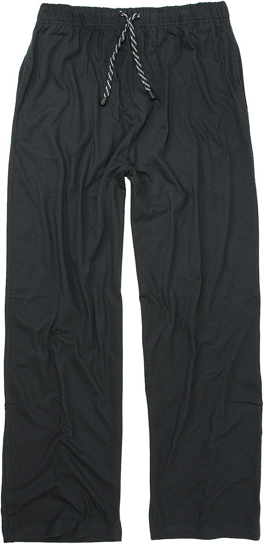 ADAMO Pantalones largos de dormir en azul oscuro tallas grandes hasta 10XL