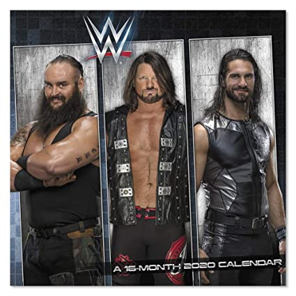 Wwe Calendar 2020 Amazon.: 2020 WWE Wall Calendar, Mini Calendar (DDMN382820