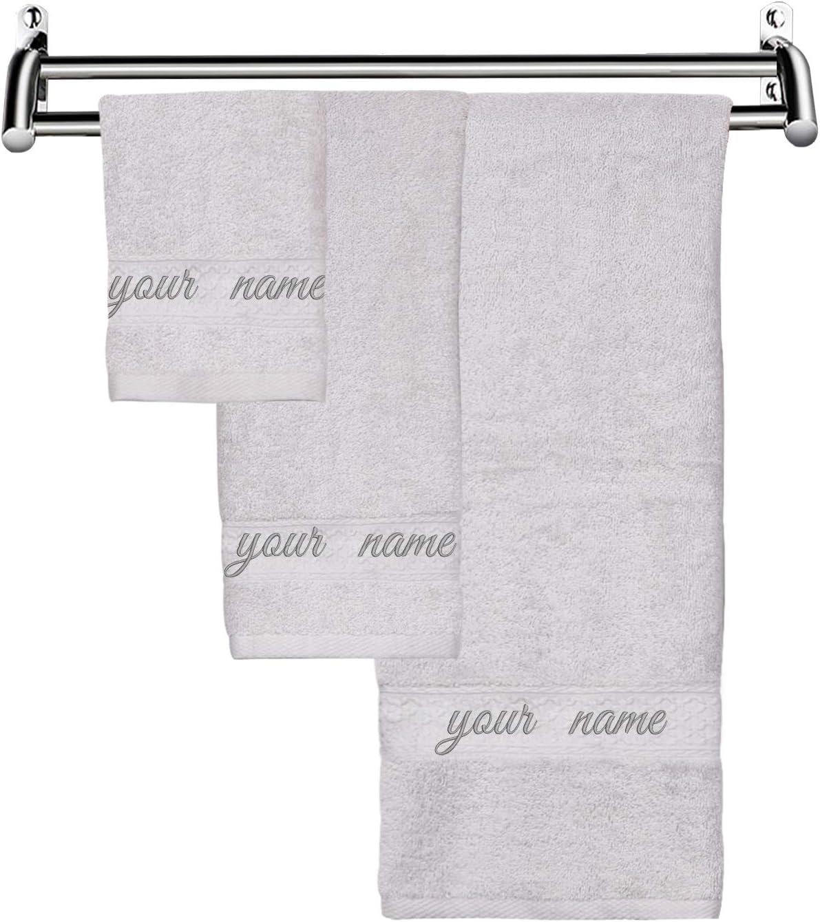 Amazon.com: Custom Monogrammed Bath Towels Personalized Bath
