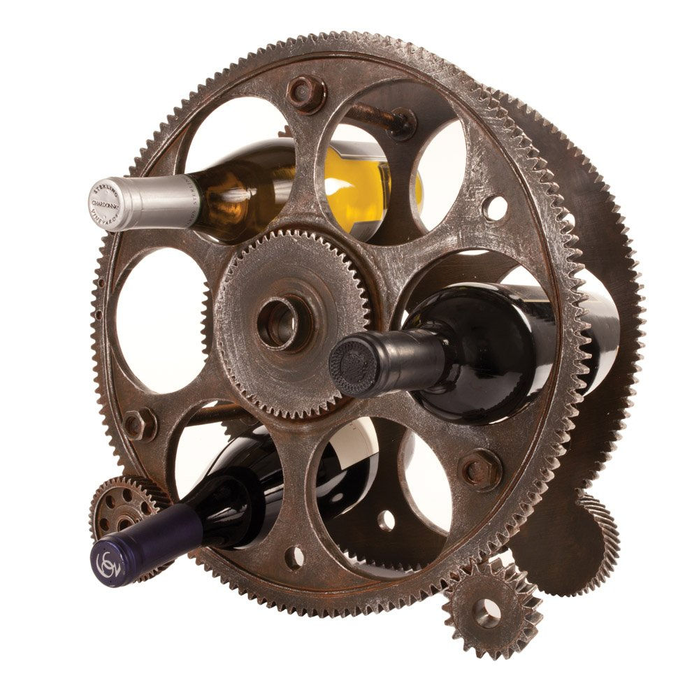 Foster & Rye 2755 Gears And Wheels Wine Rack, Multicolor by Foster & Rye (Image #1)