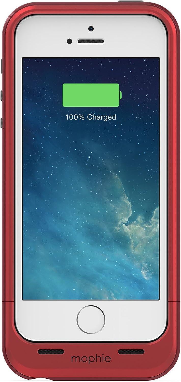 Mophie Juice Pack Plus - Carcasa con batería para iPhone5, color rojo: Amazon.es: Electrónica