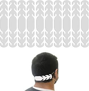 product image for Ear Strap Extender for Masks with 3 Slots to Fit All (Made in USA) Color Options (10 Pieces) (White)