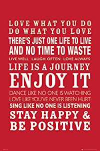 Poster Service Life Quotes Poster, 24-Inch by 36-Inch