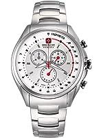 Reloj de hombre, de Swiss Military Hanowa, diseño de carreras