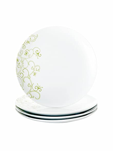 Rachael Ray Dinnerware Curly-Q 4-Piece Dinner Plate Set  sc 1 st  Amazon.com & Amazon.com | Rachael Ray Dinnerware Curly-Q 4-Piece Dinner Plate Set ...