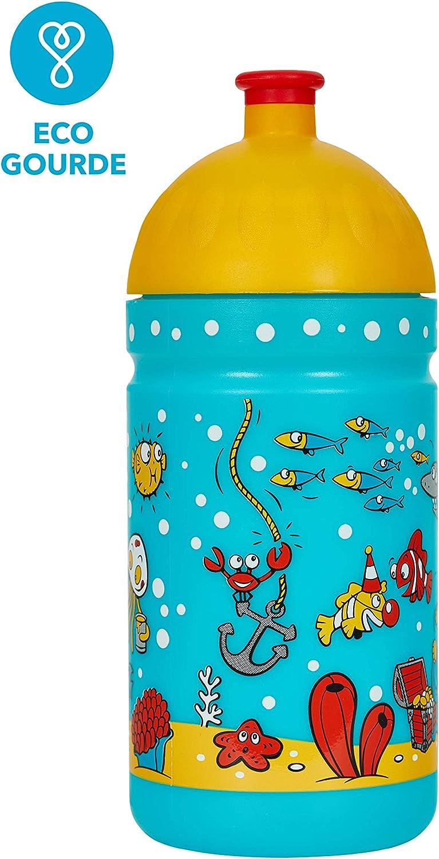 Botella de Agua Ecol/ógica para ni/ños 0,5L sin BPA sin Ftalatos Irrompible Made IN EU Duradera y Chula!