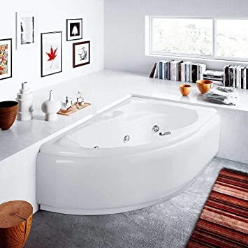 Bañera con hidromasaje, mod. LIS con sistema Whirlpool 150 x 100 ...
