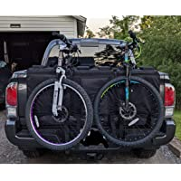 52 Inch Pickup Truck Divided Tailgate Pad with 6 Secure Mountain Bikes Frame Straps,2 Detachable Large Portable Bags & 1…