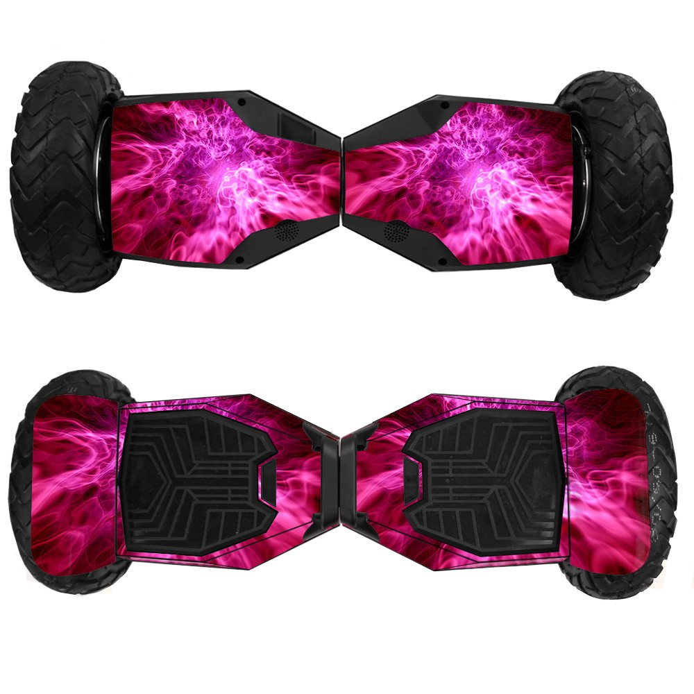 MightySkins Skin For Swagtron T6 Off-Road Hoverboard - Red Mystic Flames   Protective, Durable, and Unique Vinyl Decal wrap cover   Easy To Apply, Remove, and Change Styles   Made in the USA