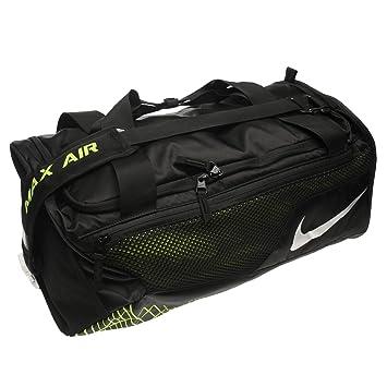 Nike Vapor Max Air Medium Duffle Bag Black Volt Duffel Sports Holdall  Carryall d93290f3ee8e8