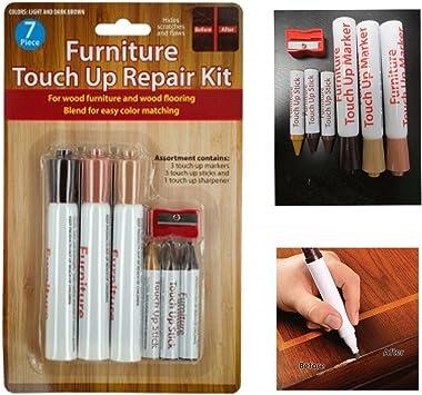 6 Pc Furniture Touch Up Marker Pen Wood Wax Scratch Repair Filler Remover Fix