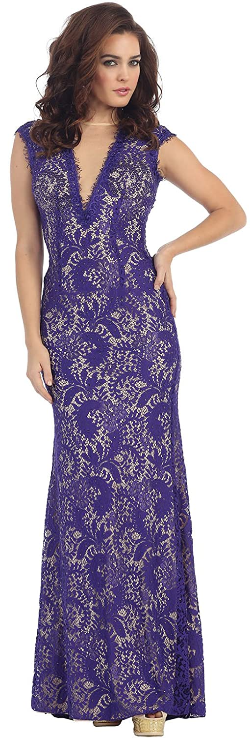 Royal Queen RQ7175 Special Occasion Evening Dress at Amazon Womens Clothing store: