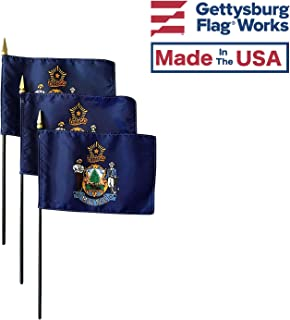 product image for 4x6 E-Gloss Maine Stick Flag - Flag Only - Qty 3