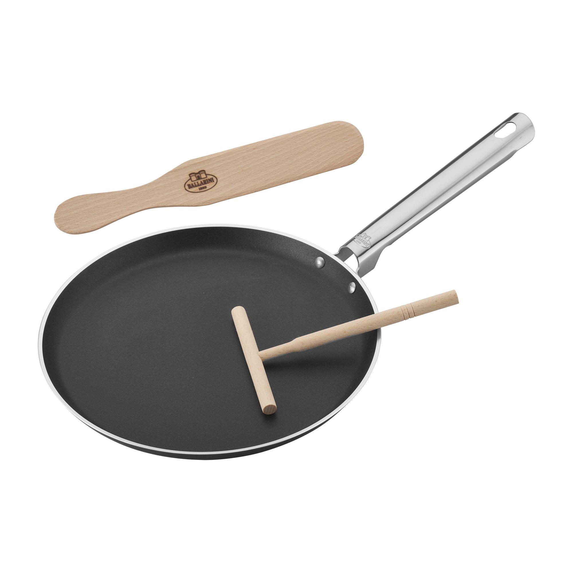 Ballarini 75000-663 cookin'Italy Crepe Pan Set, 10.5-inch, Black by BALLARINI