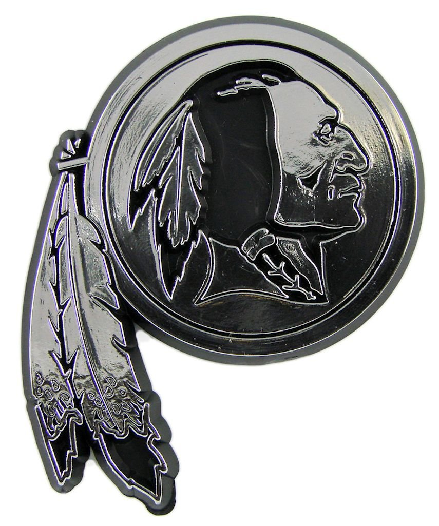 amazon com washington redskins silver car emblem sports u0026 outdoors