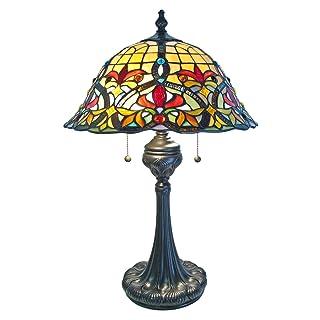 Fine Art Lighting JT1620 510 Glass Cuts Includes 24 Cabochons Tiffany Table Lamp, 16 x 24