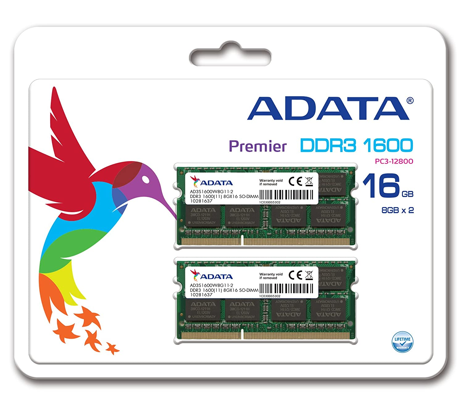Adata Premier Pro Ddr3 1600mhz 16gb8 X 2 Memory Modules 4 Gb Pc12800 Kingston Untuk Pc Ad3s1600w8g11 At