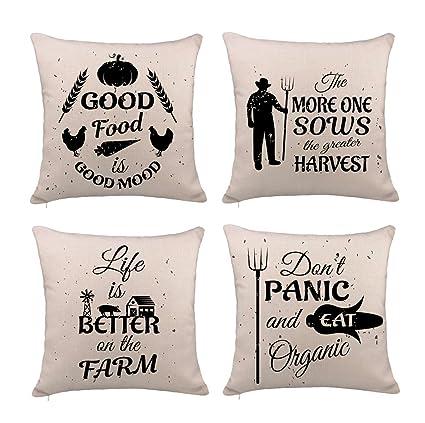 Amazon 60TH Emotion Farm Quotes Throw Pillow Cover Cushion Case Amazing Farm Quotes