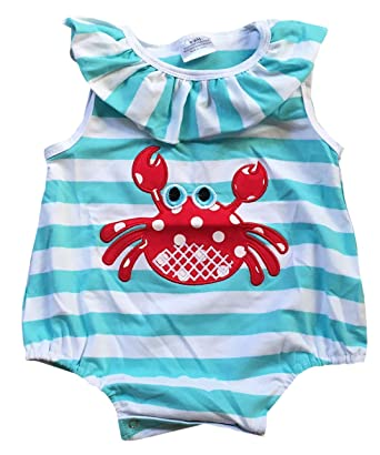 f1a88aeb29a Amazon.com  Dreamer P Infant Baby Girls Outfit Sleeveless Ruffle Summer  Party Newborn Body Suit Clothes Mint 18-24M (P317842P)  Clothing