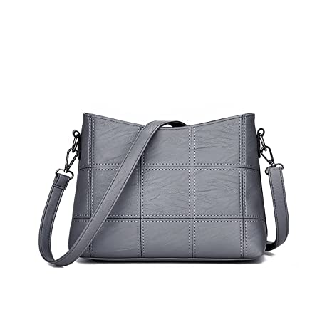 e518536b3774 Buy Tisdaini Ladies Handbags New Fashion Handbag Trendy Soft Bag Splicing  Shoulder Messenger Online at Low Prices in India - Amazon.in