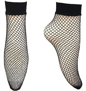 Netz-Socken mit VERSTÄRKUNG FERSE Mikrofaser SCHWARZ oder WEIß Socken 2 PAAR!