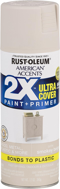 Rust-Oleum 327934 American Accents Spray Paint, 12 Oz, Satin Smokey Beige