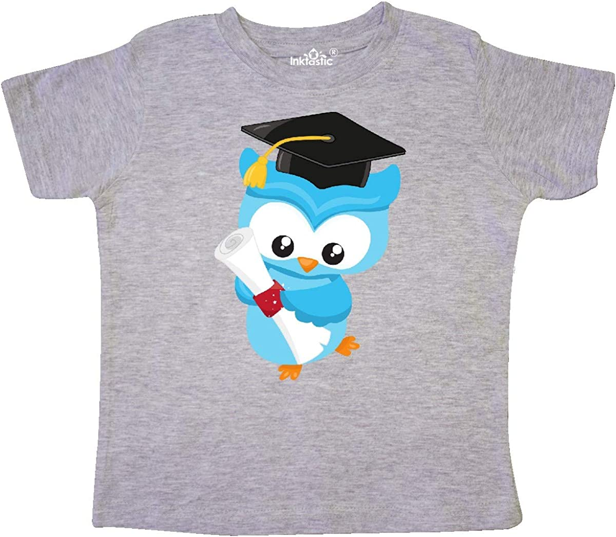 inktastic Blue Owl with Graduation Hat and a Diploma Toddler T-Shirt