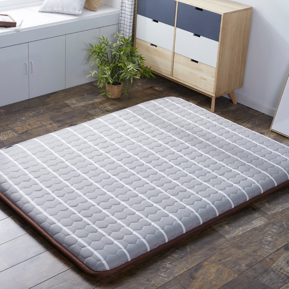 C 150x190cm(59x75inch) Japanese Sleeping Tatami Floor mat, Foldable Futon Mattress mat Pad Topper Bed roll for Bed Studtents Dorm Home Meditaion -G 150x200cm(59x79inch)