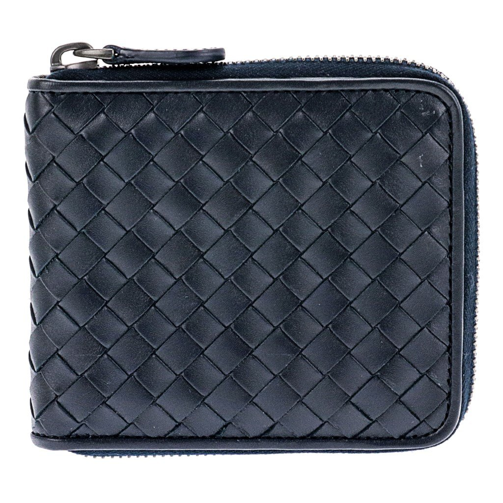 ボッテガヴェネタ 二つ折り財布 メンズ ネイビー 464904 V4651 401 [並行輸入品] B07CSL3L46