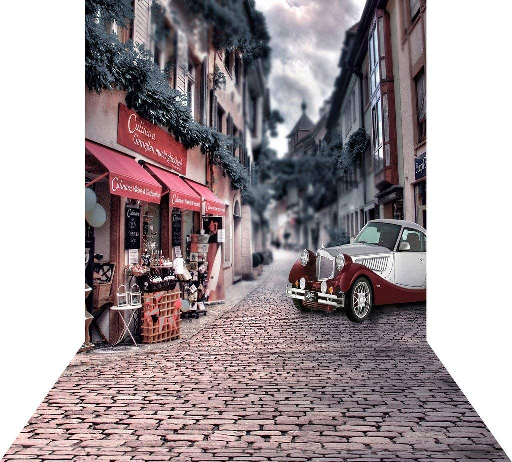 Pictorial Cloth Customized Photography Backdrop Background Studio Prop GQ96 300X450CM GoHeBe Ancient City Streets 10X15FT