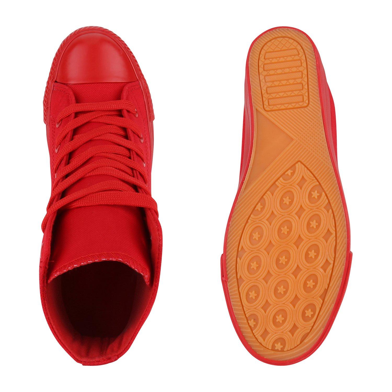 Stiefelparadies Flandell Damen Sneaker Wedges Übergrößen Flandell Stiefelparadies Rot Total 7c4321