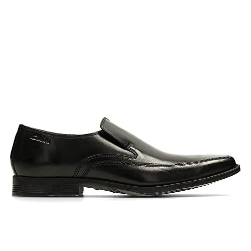 Clarks Men's SlipOn Loafer Flats Shoes Acre Out Black Leather