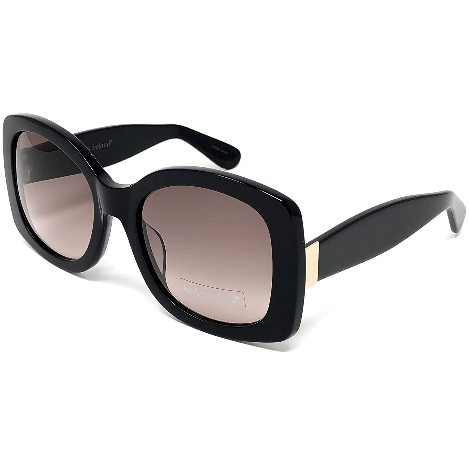 a9b58c2c14 Amazon.com  Kathy Ireland Womens Acetate Black Square Sunglasses With UV400  Gradient Smoke Lens  Sports   Outdoors