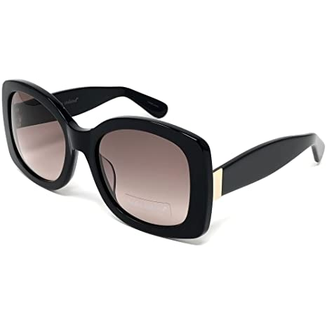 3e72da31e5 Amazon.com  Kathy Ireland Womens Acetate Black Square Sunglasses With UV400  Gradient Smoke Lens  Sports   Outdoors