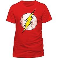 DC Comics - Camiseta de Flash con cuello