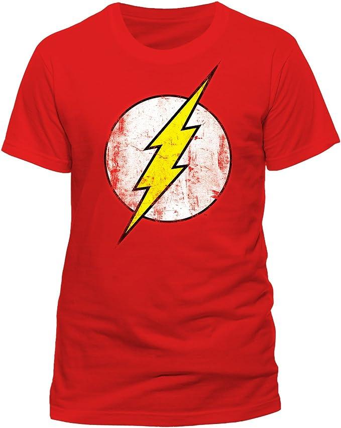 DC Comics - Camiseta de Flash con cuello redondo de manga corta para hombre: Amazon.es: Ropa y accesorios
