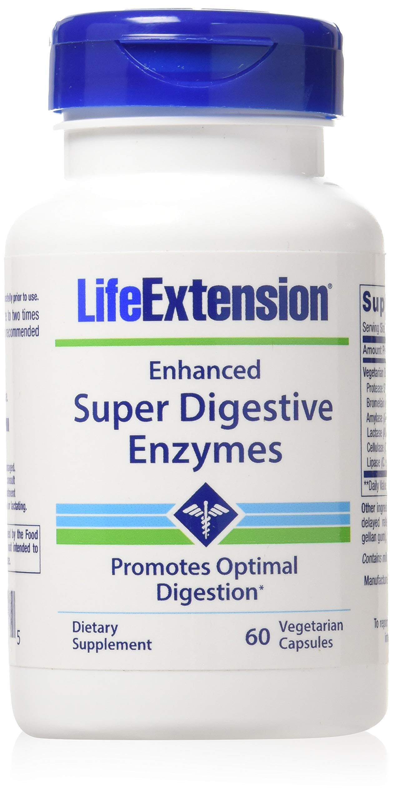 Life Extension Enhanced Super Digestive Enzymes 2-pack (2x60 Vegetarian Capsules) by Life Extension
