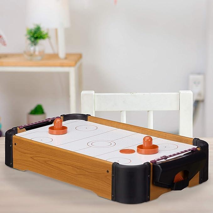 Relaxdays Air Hockey Mesa Portátil, Color marrón, 10 x 31 x 56 cm (10022514): Amazon.es: Juguetes y juegos