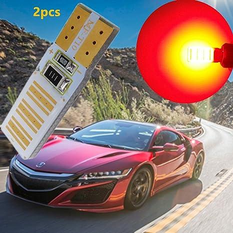 WLJH 2pcs T10 168 194 W5 W LED COB interior Dome Bombilla no Error Auto coche