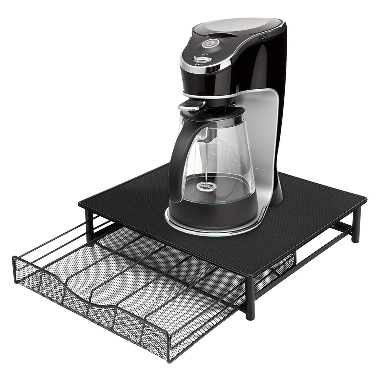 SortWise 36 K-Cup Coffee Pod Holder Storage Drawer Coffee Capsules Organizer Packs, Black