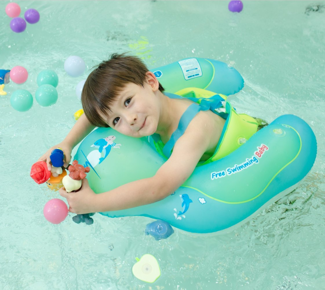 Amazon.com : Baby Swimming Float Ring, Baby Swim Float Newborn Swimming Pool Toys, Inflatable Swim Ring Children Seat Boat Float Early Learning Toy for 6 to ...