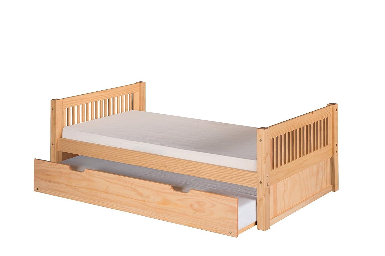 amazoncom camaflexi mission style solid wood platform bed with  - amazoncom camaflexi mission style solid wood platform bed with trundletwin white kitchen  dining