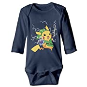 Luckva Baby's The Legend Of Zelda Long Sleeve Romper Climbing Clothes Navy