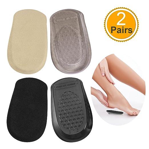 1 Paar Silikon Gel Fersenkissen Schutz Fußpflege Schuheinlage Einlegesohl  CJ