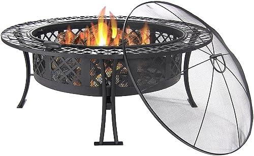 Sunnydaze Diamond Weave Outdoor Fire Pit