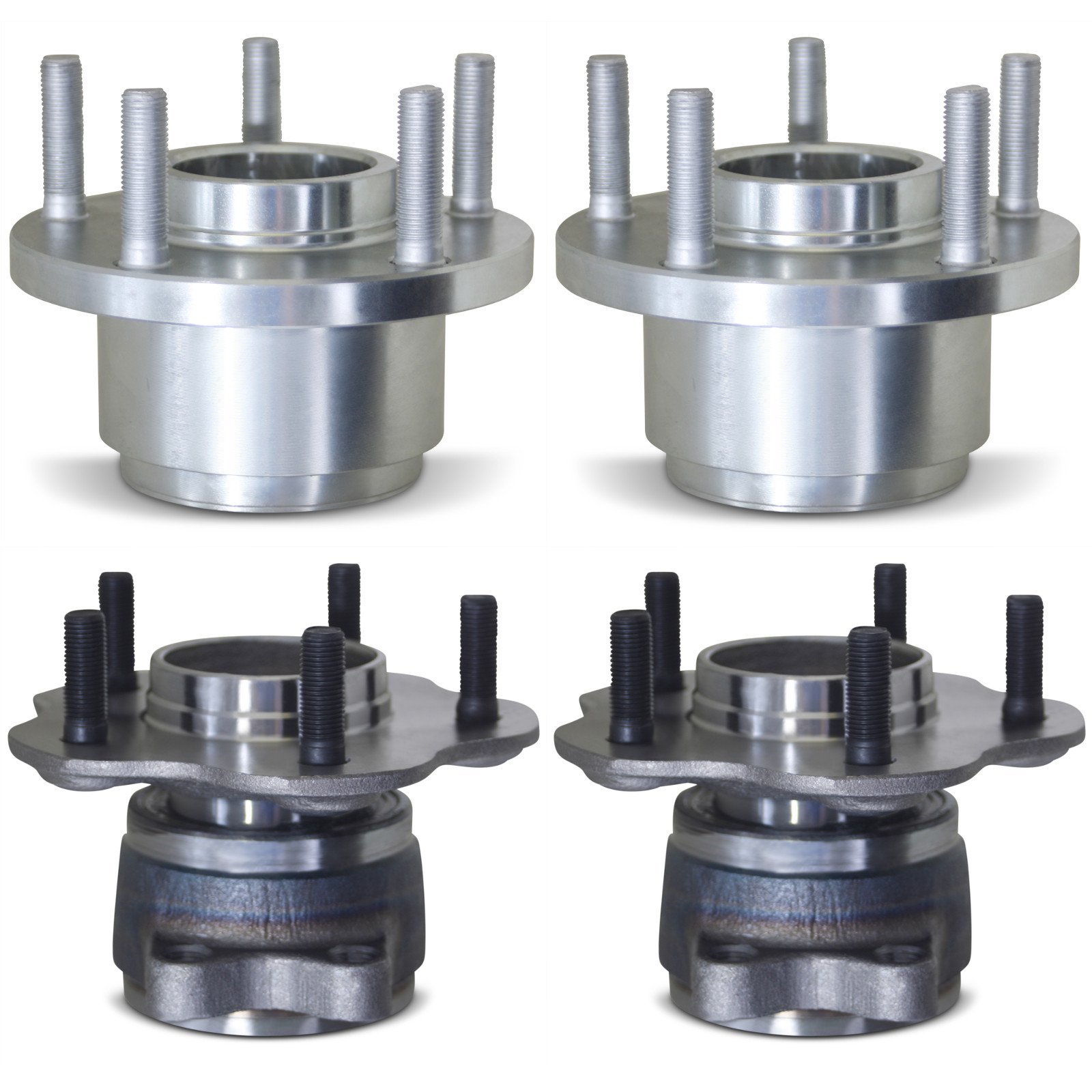 Tomegun 4 to 5 Lug Wheel Hubs Bearing Conversion Set of 4 (Front/Rear) For 89-94 Nissan 240SX S13 by Tomegun (Image #2)