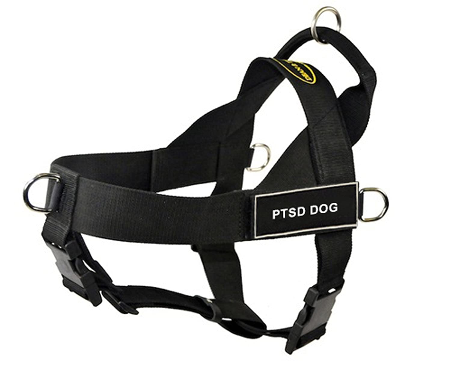 DT Universal No Pull Dog Harness, PTSD Dog, Black, Small, Fits Girth Size  24-Inch to 27-Inch