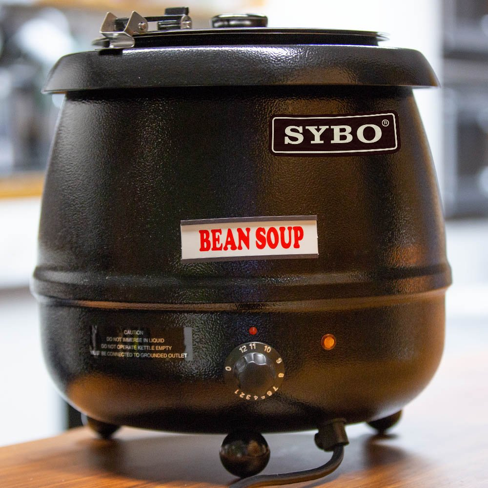 SYBO SB6000 SB-6000 Soup Kettle, 10.5 Quarts, Black and Sliver by SYBO (Image #4)