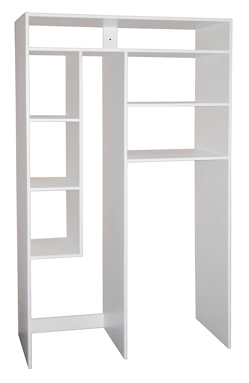 Berlioz Creations Skeep Etagère de Rangement Blanc 120 x 50 x 200 cm